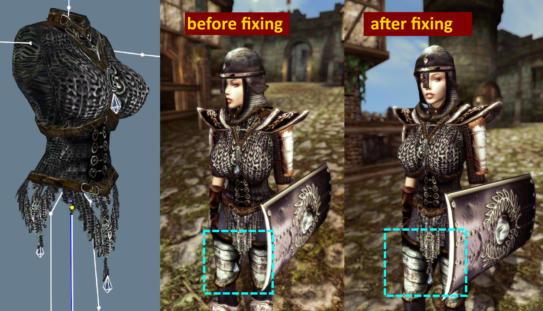 Imperial Chainmail Cuirass Animation Fix