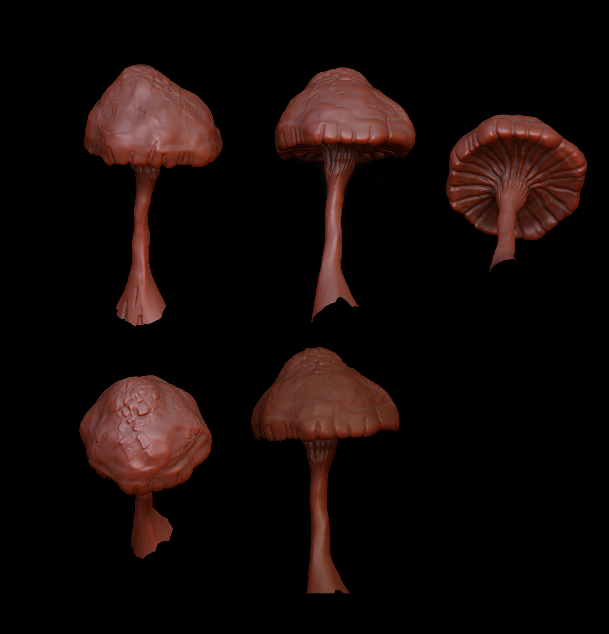 Violet Coprinus with Zbrush