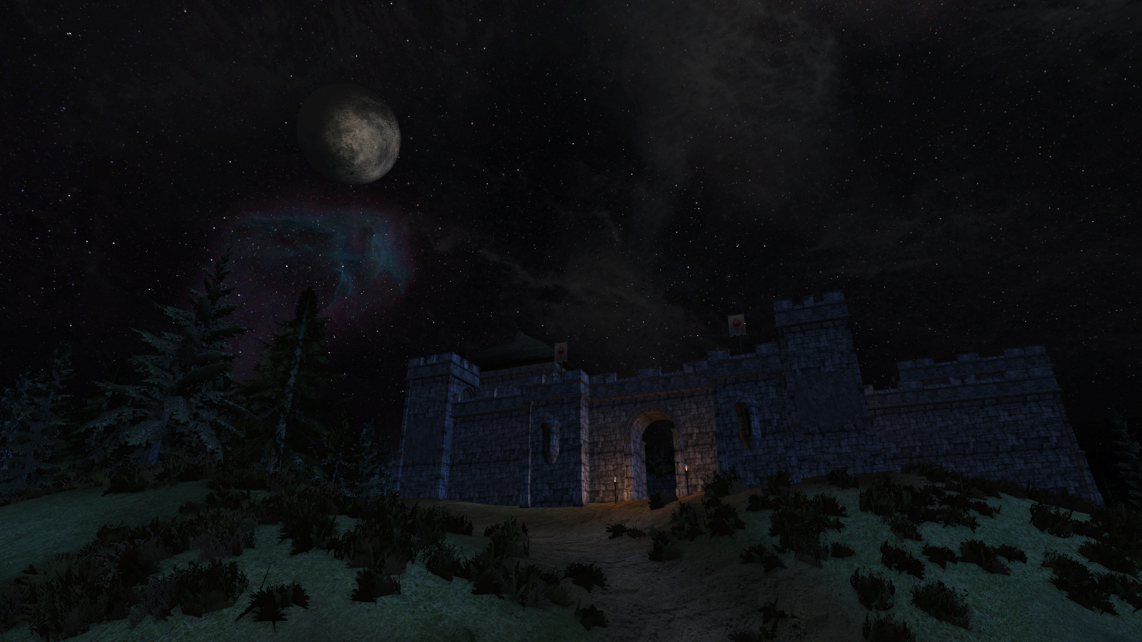 Night at the fort