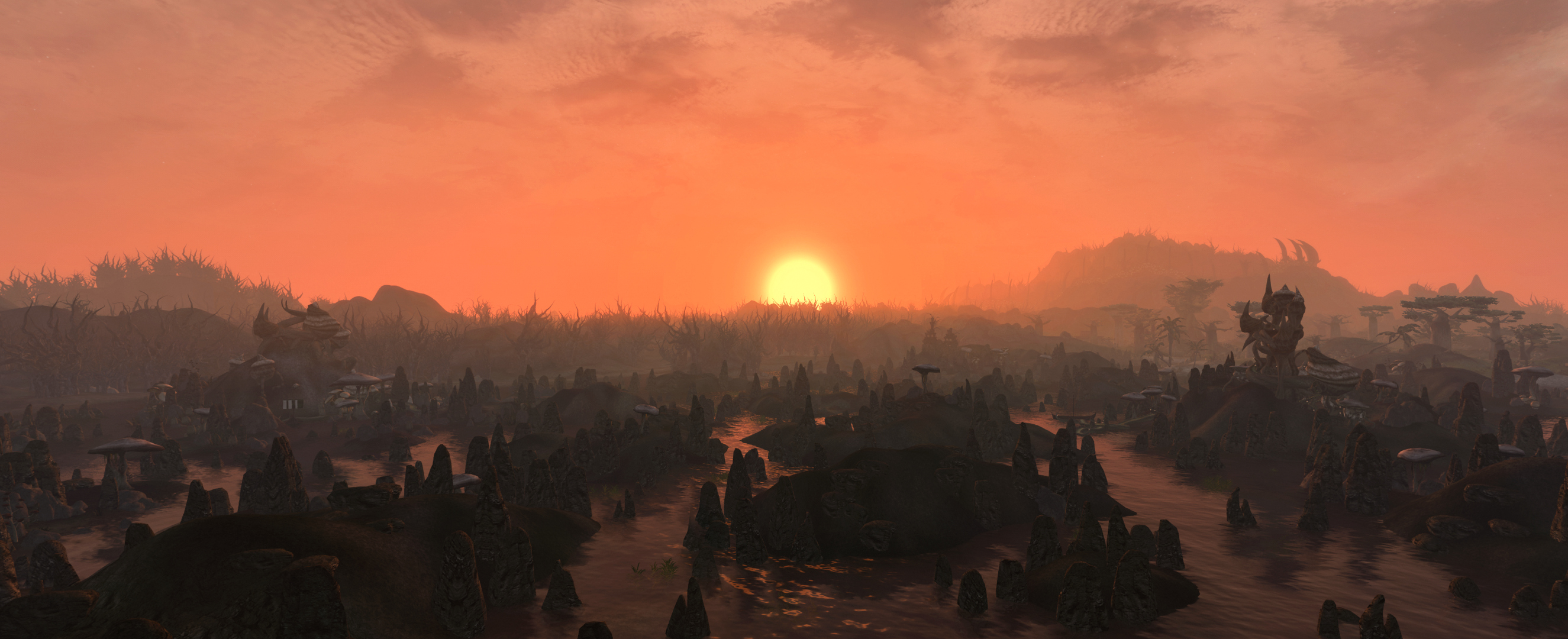 Sunset over Vvanderfell