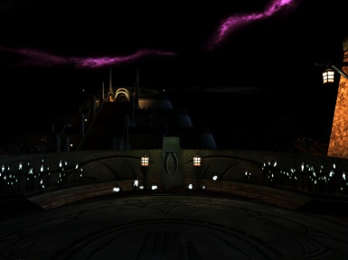 Night view at Palace of Vivec