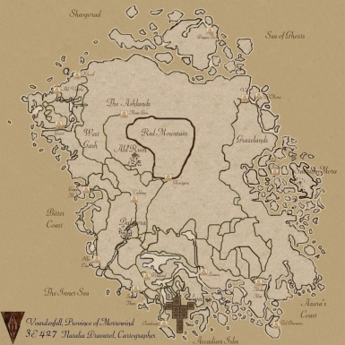 Morrowind Vvardenfell Map