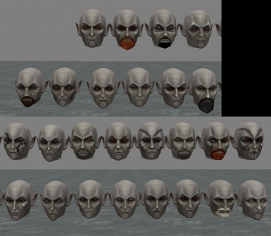 WIP TR heads replacer - Dunmer males
