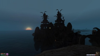 Sunset Over Daedric Ruins