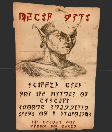 Wanted poster concept