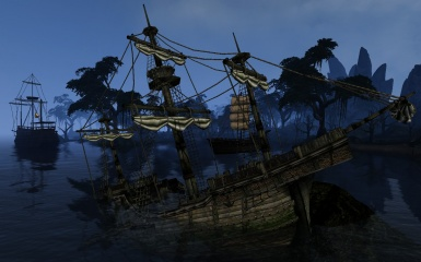 Imperial Galleon crashed in front of seyda neen