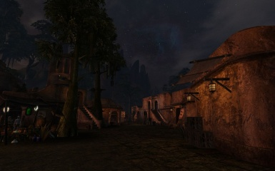 Busy Evening in Balmora