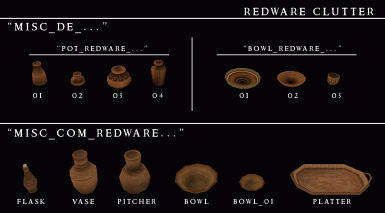 Morrowind Visual Index - Misc - Redware