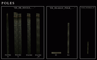 Morrowind Visual Index - Wooden - Poles