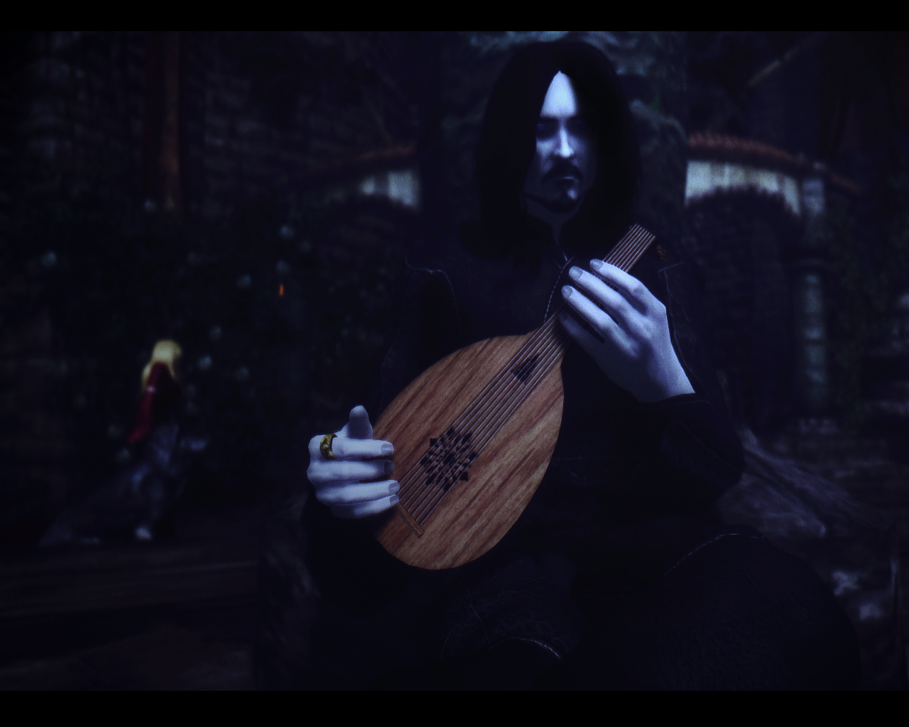 A lonely bard