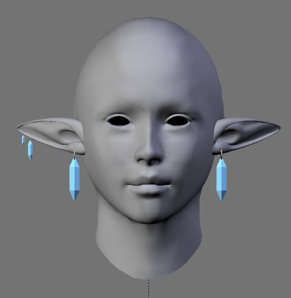 Earrings for Lop Ears WIP