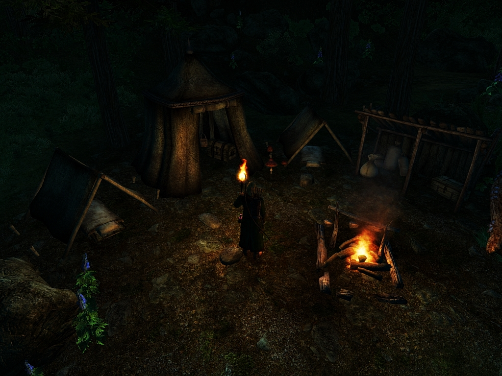 A camp for the night and a strange find
