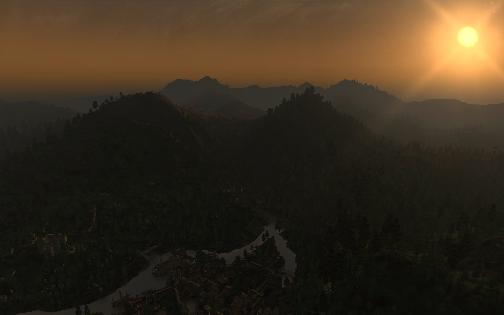 View over Elsweyr to the Valenwood mountains
