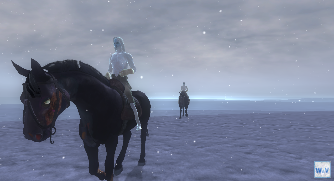 Word and Void - White Walkers riding horseback