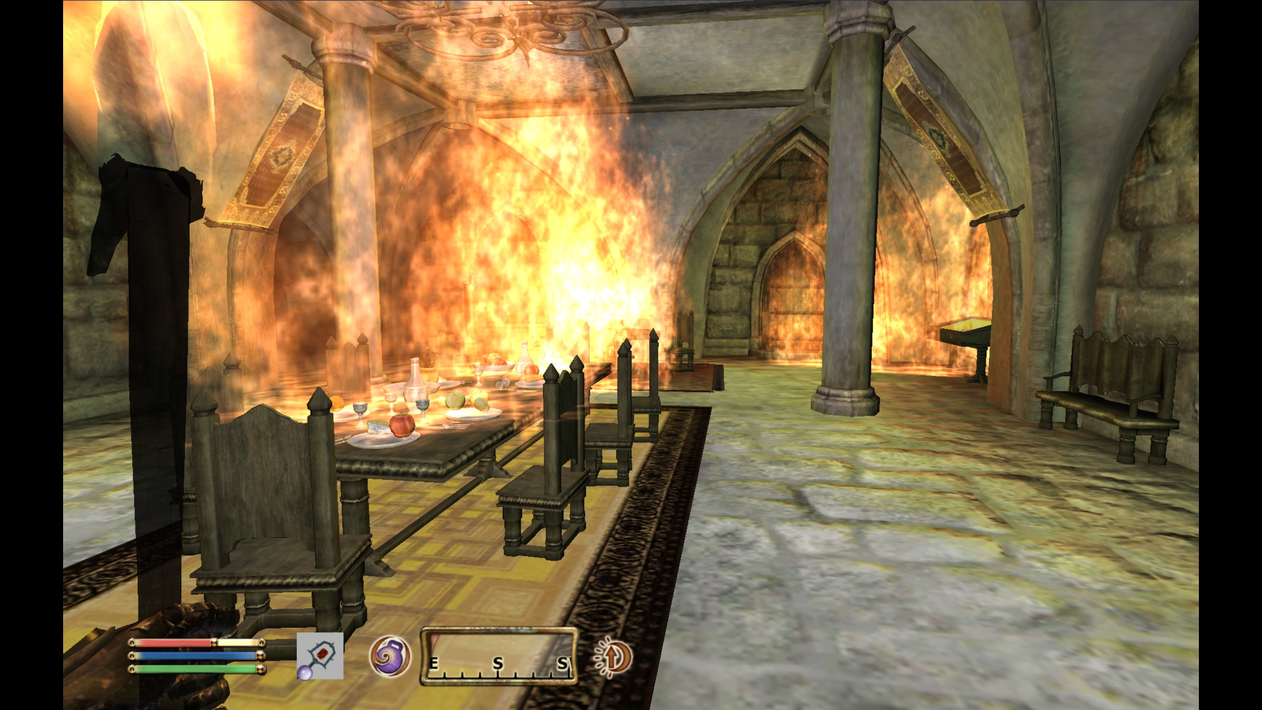 Castle Bruma Burning