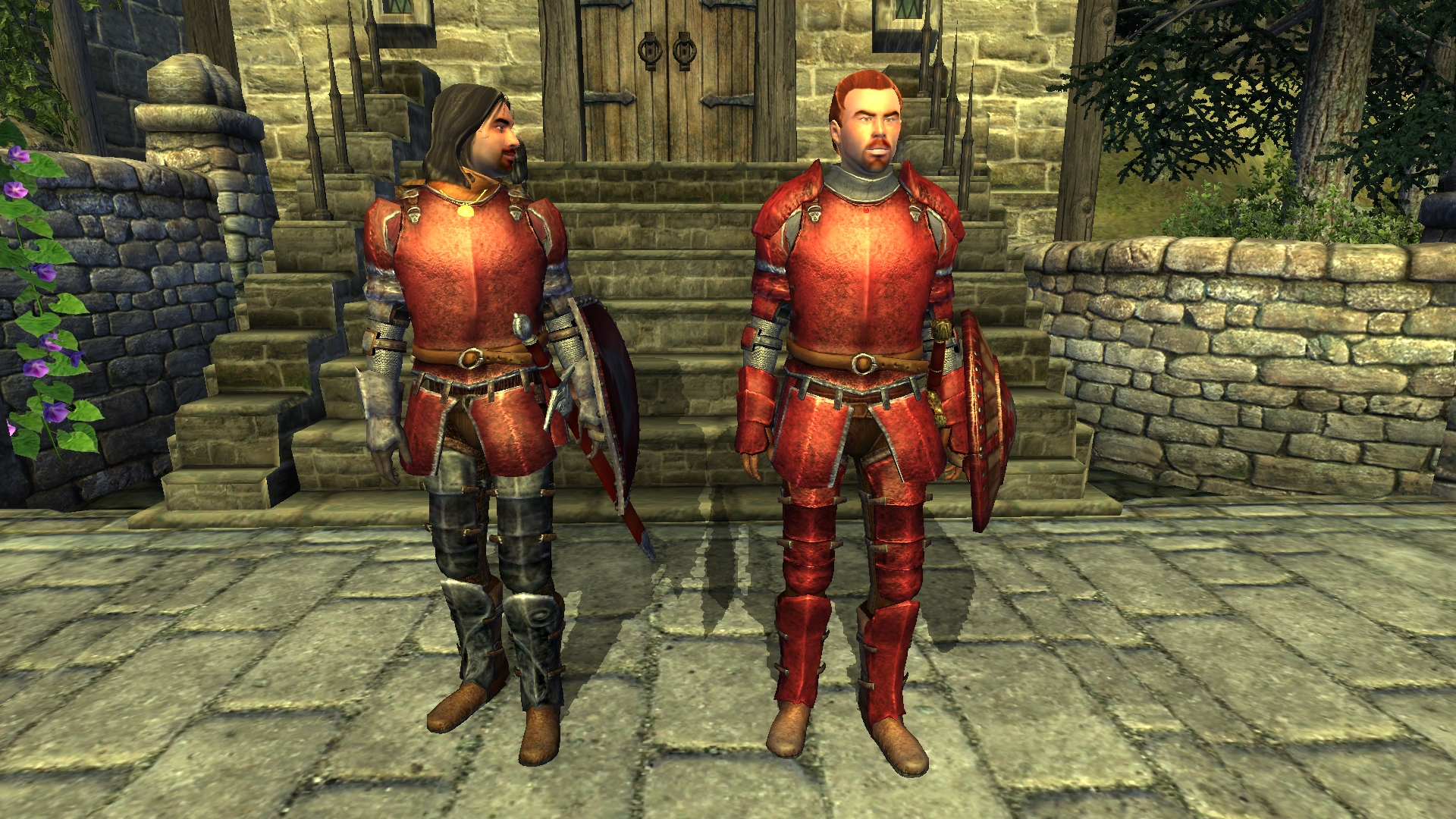 Fighter Guild armor for Sutch outside