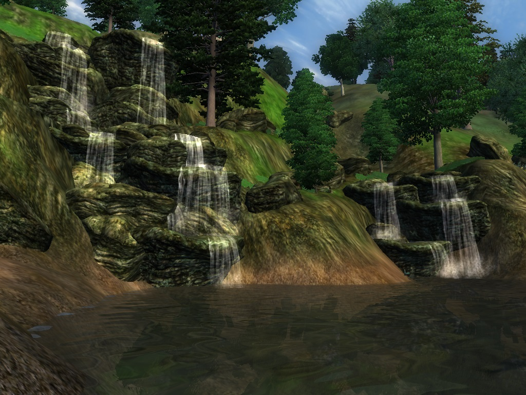 Foaming Falls with Enhanced Water