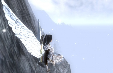 Angel on the mountain side