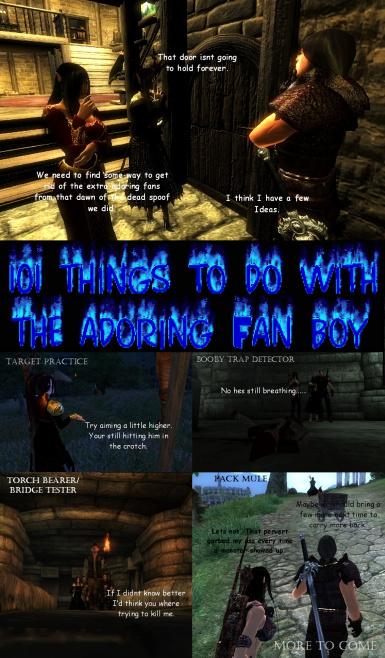 101 THINGS TO DO WITH THE ADORING FAN BOY