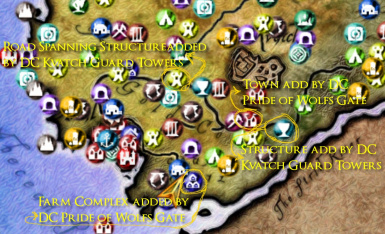 Map Showing Potential Hesu Collection - DC mods conflicts