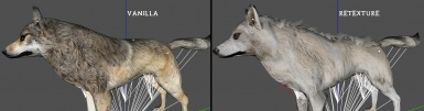 Wolf retexture early WIP