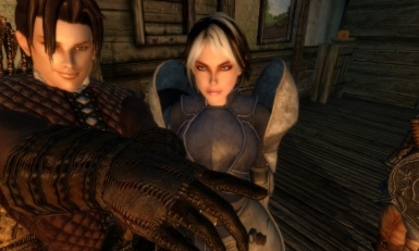 My character and her friend