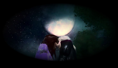 Kiss under the moon