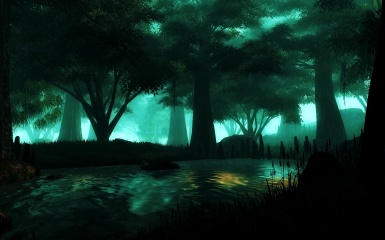 Myst forest