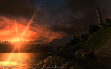 Sunset east of Imperial City