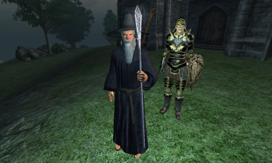 Gandalf the Grey with MERP gear