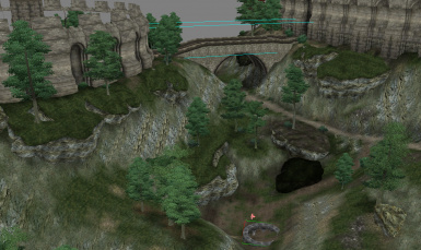 Small Road near the Arcane University in default Oblivion