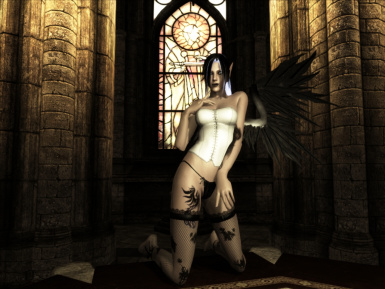 Cyra in a chapel