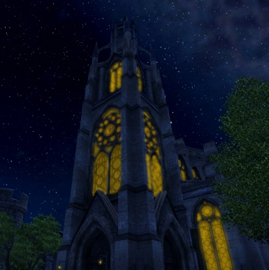 Anvil Chapel at night