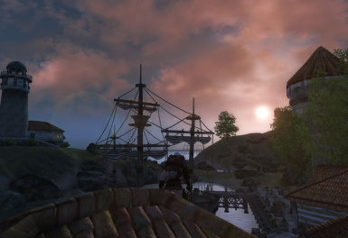 Tranquility at the docks of Anvil