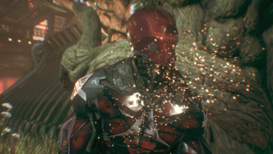 Red Arkham Night With Crystal Armor
