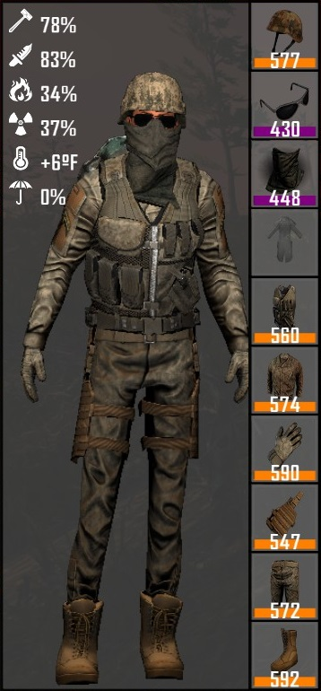 MIL-STD Tan 686 Camo Gear