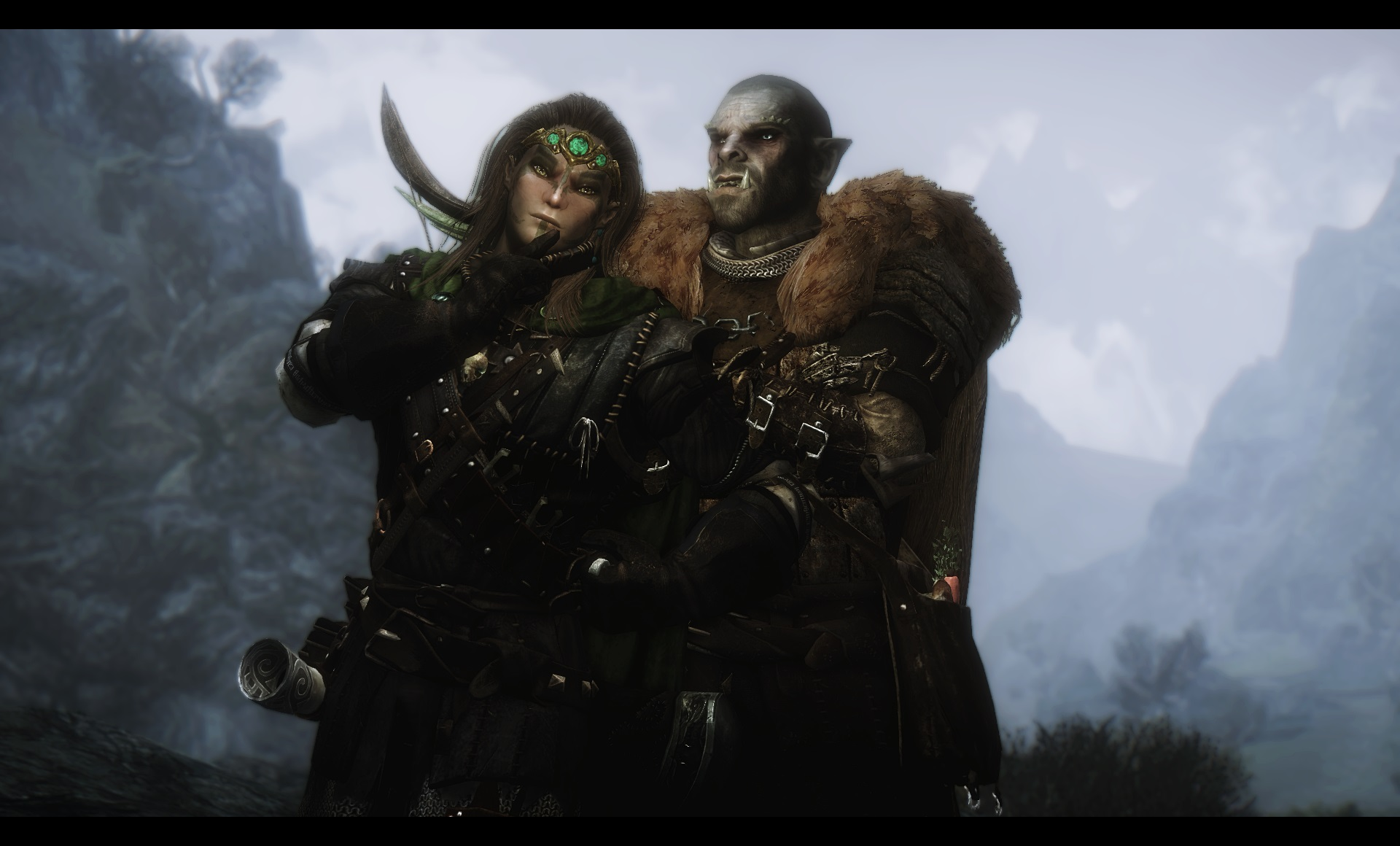 Elf and orcs fucking scene