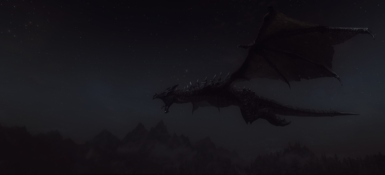 A dragon in the night