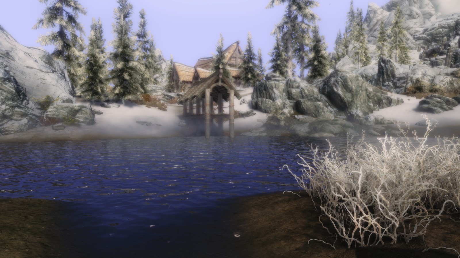 A Cold Day by the Inn