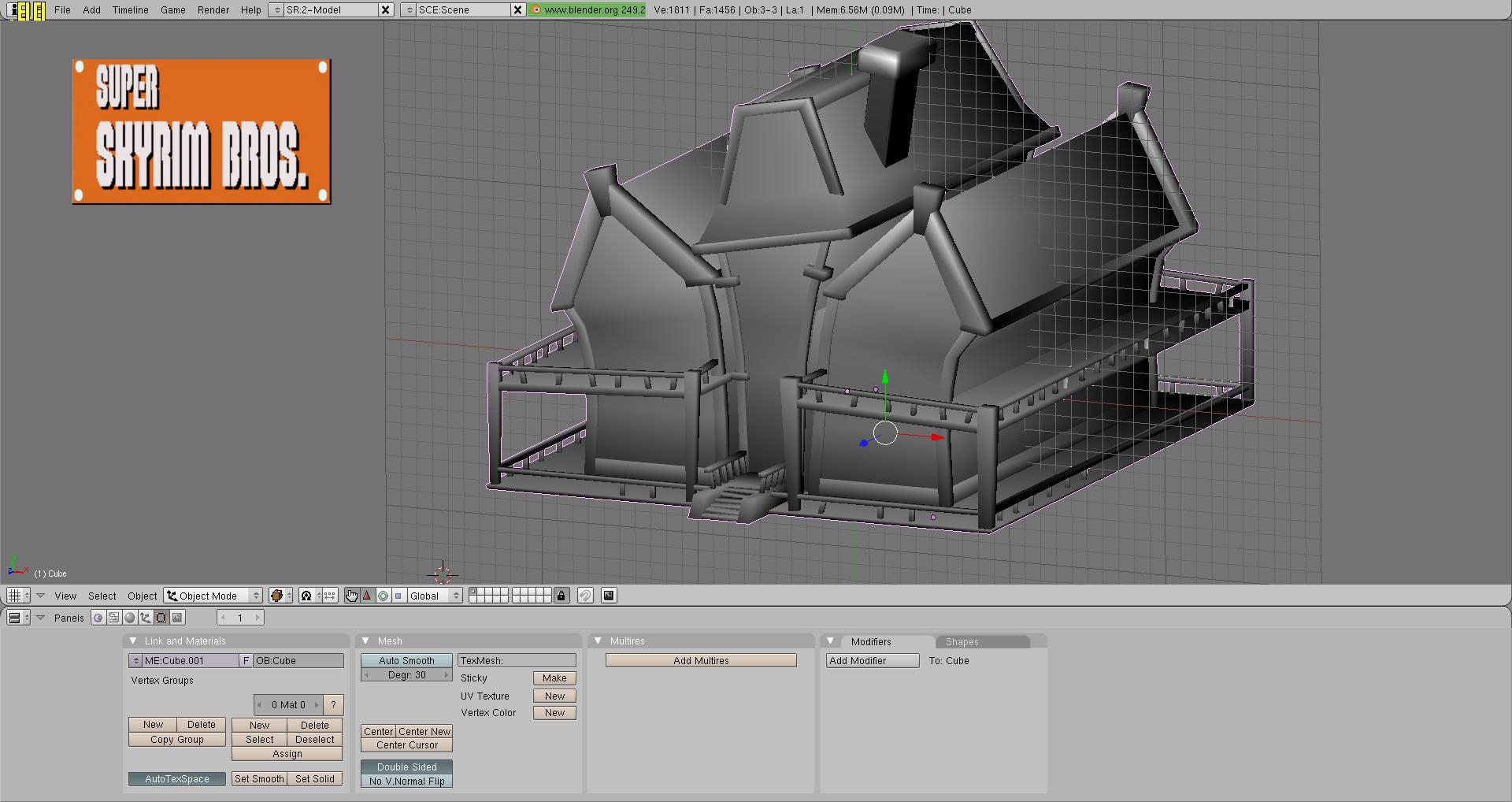 SUPER SKYRIM BROS_Haunted House Model wip