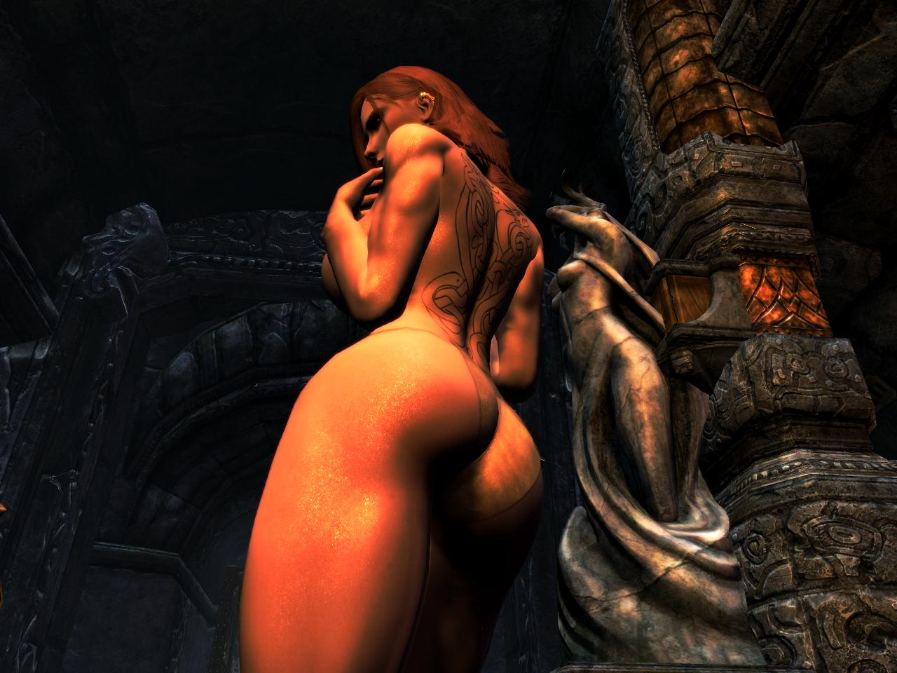 Skyrim nude mod big boobs erotic photo