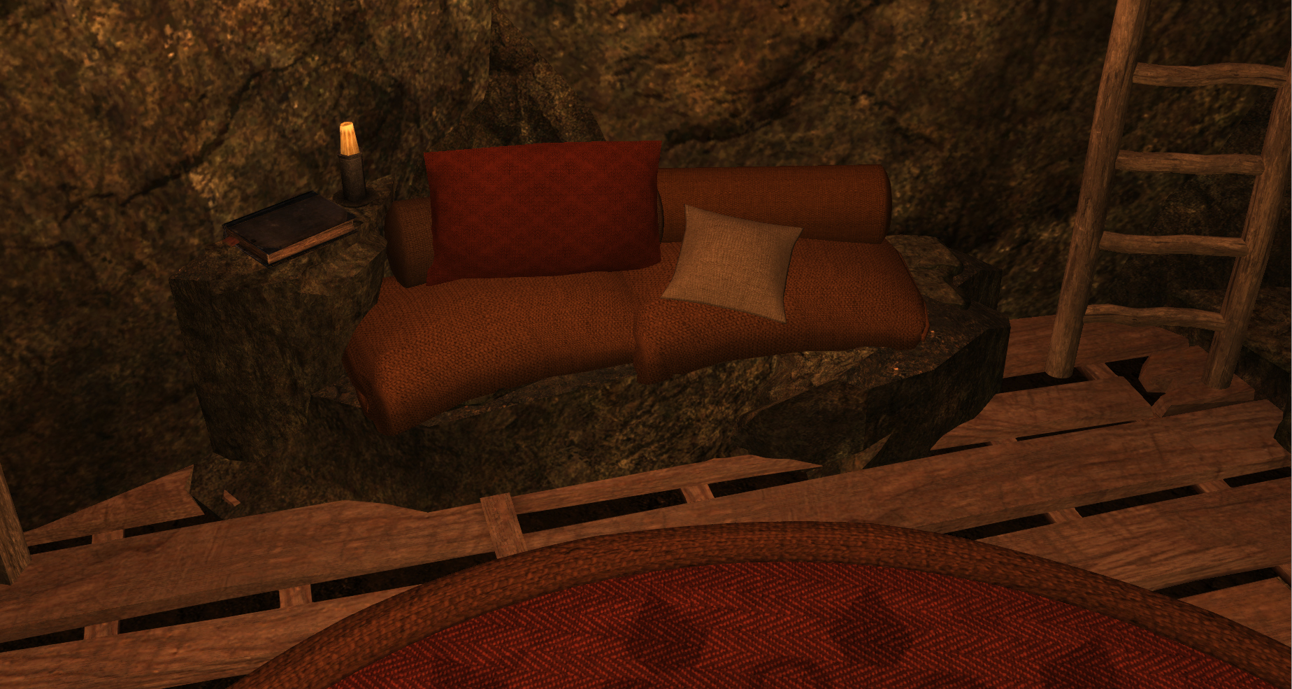 Asymmetric Stone Sofa At Skyrim Nexus