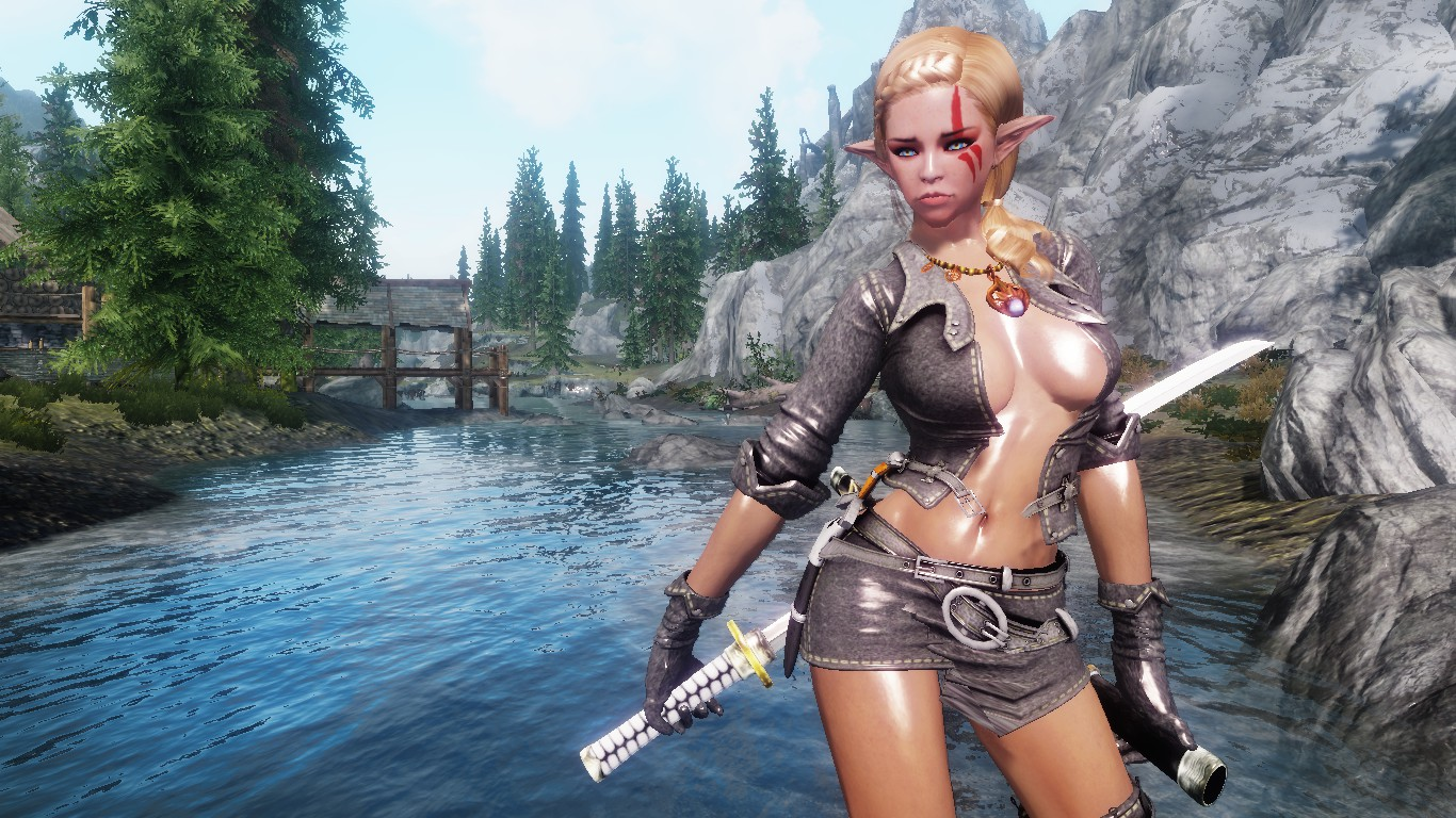 Skyrim orc girl sexy sexual image