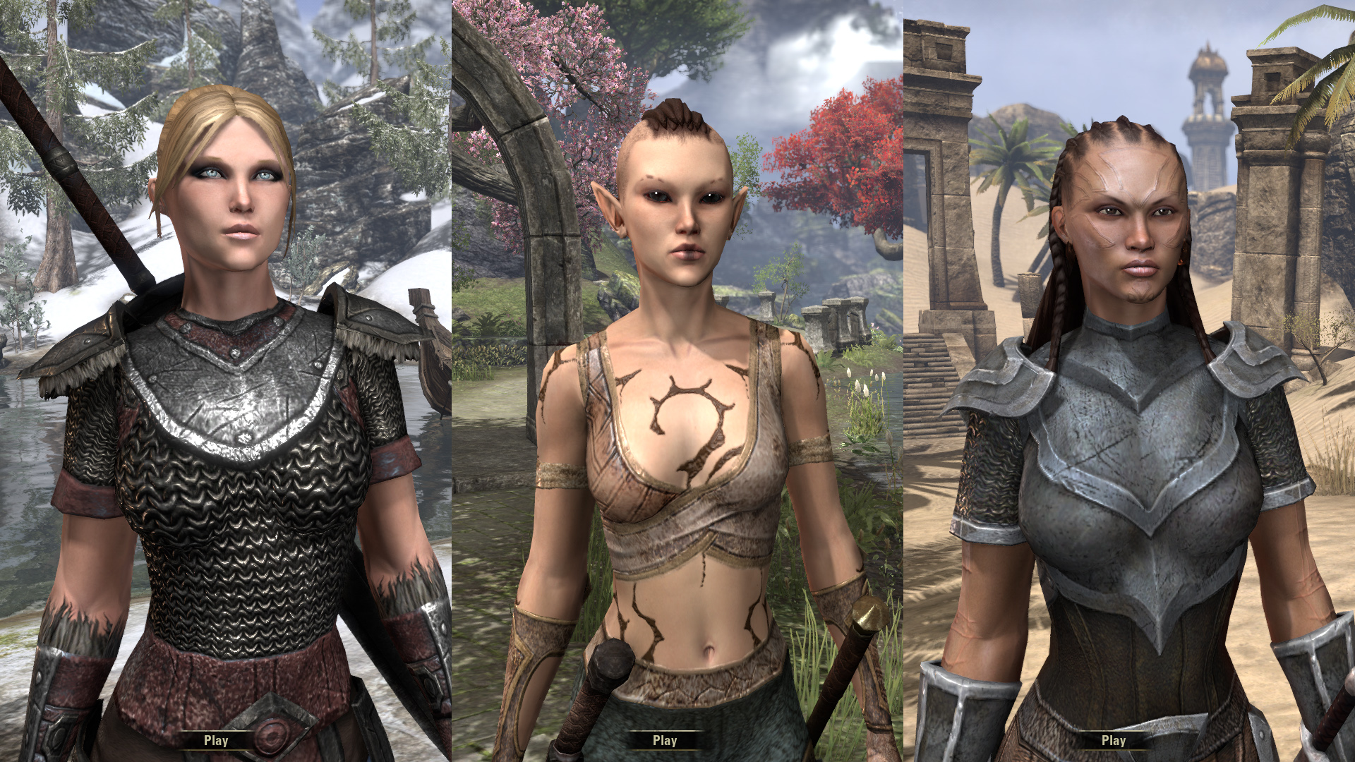 My current chars in ESO