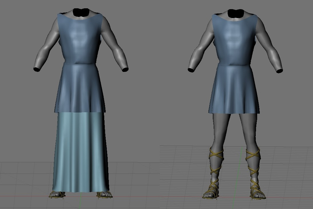 WIP - Imperial outfit for male characters