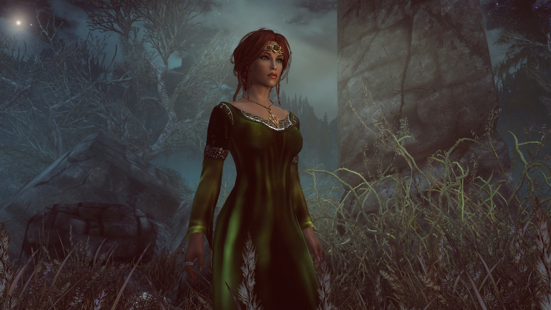 Elven Dress By Naihaan At Skyrim Nexus Mods And Community