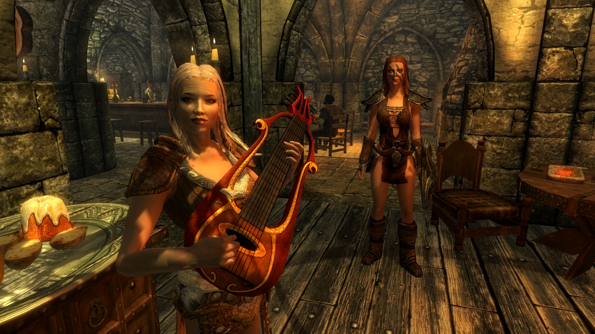 Skyrim: Little did I know, the player is unable to play instruments of any kind.