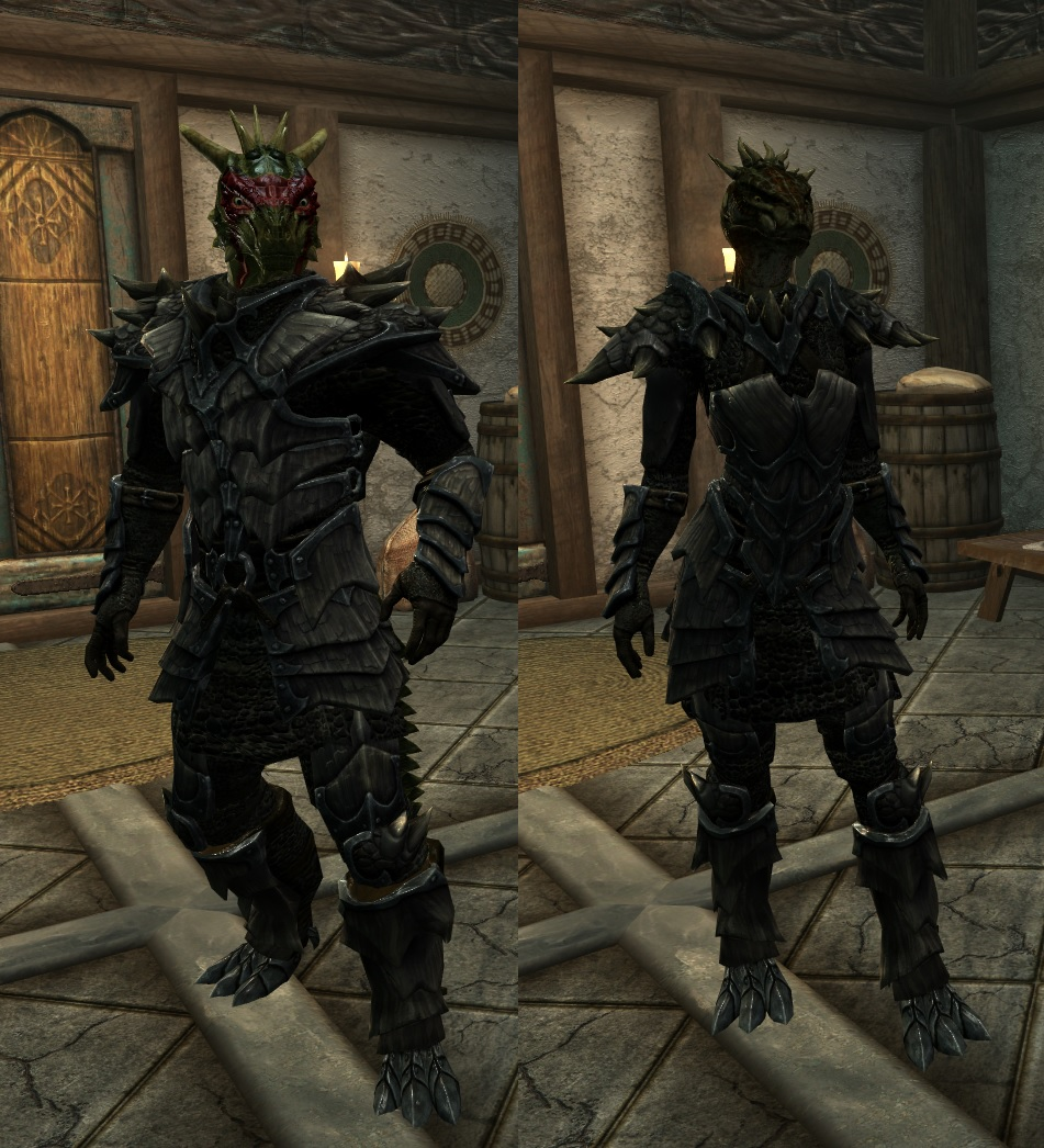 Argonian Dragonscale Armor At Skyrim Nexus Mods And Community The rest of the garment uses simplistic basic stitches to allow the crocodile stitch to be the center of attention. argonian dragonscale armor at skyrim