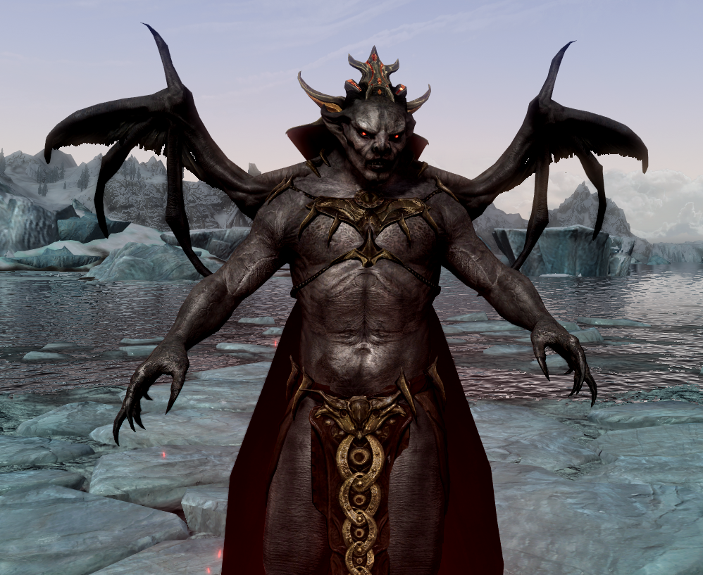 Bulky Vampire Lord With Wings At Skyrim Nexus Mods And Community