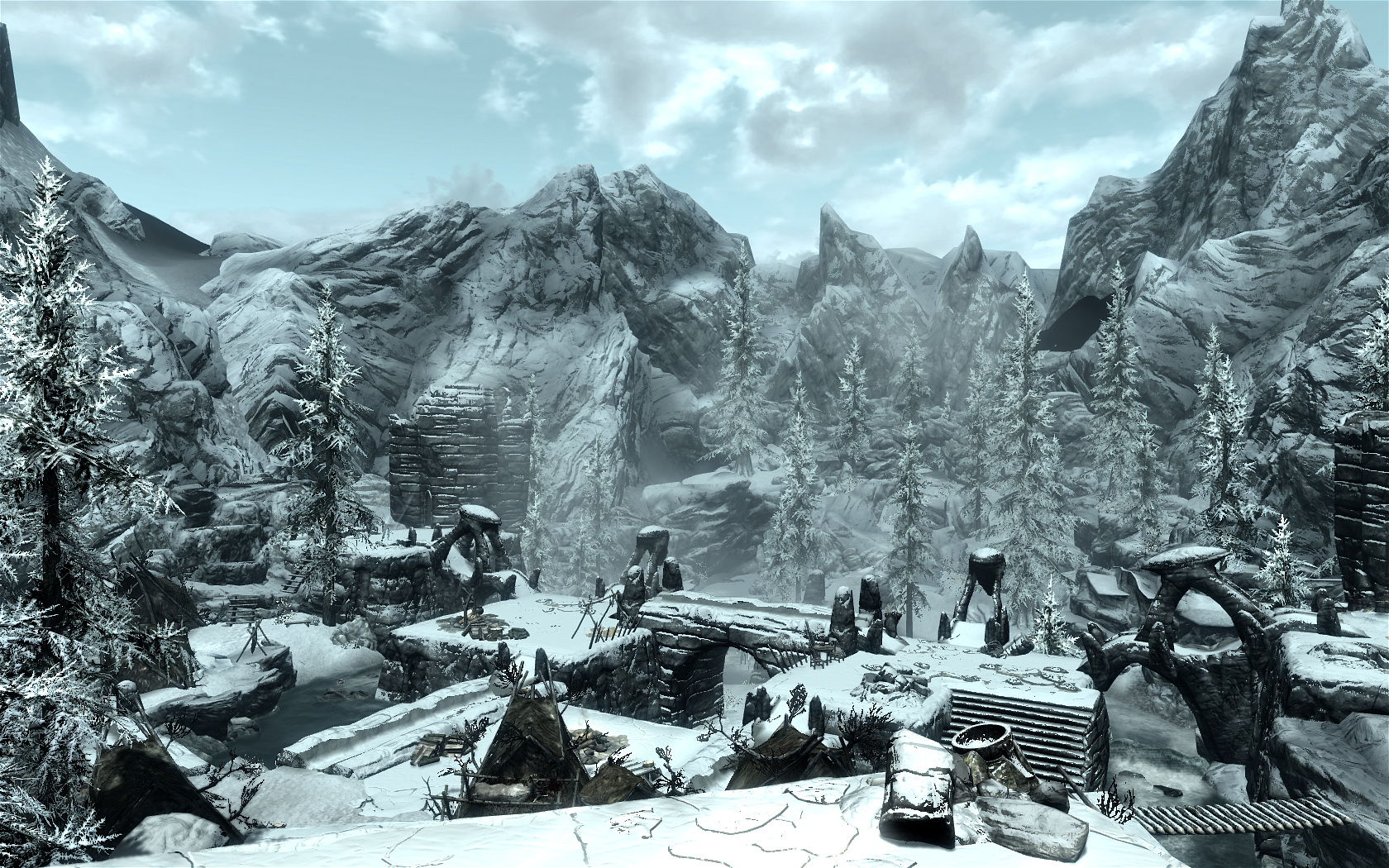 Ruins And Snow At Skyrim Nexus Mods And Community